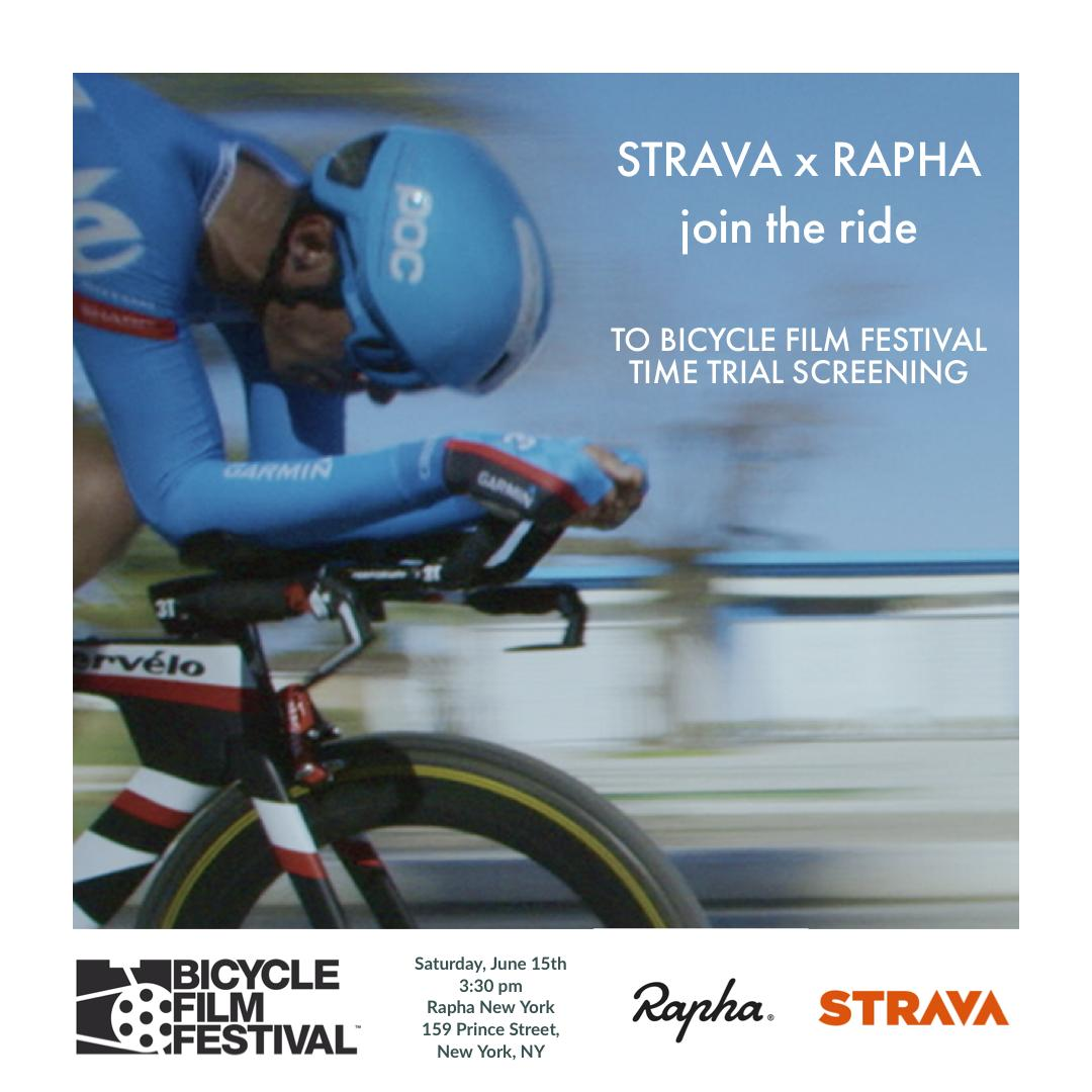 "Join the @Strava x @rapha Ride to Bicycle Film Festival's feature film screening of ""Time Trial,"" directed by BFF alum and BAFTA award winning filmmaker, Finlay Pretsell. Sat, June 15th @ 3:30PM. Begin: Rapha New York. Ending #bicyclefilmfestival #strava https://ti.to/ccnyc/clubhouse-rides/with/ngpzgub8zs8 …"