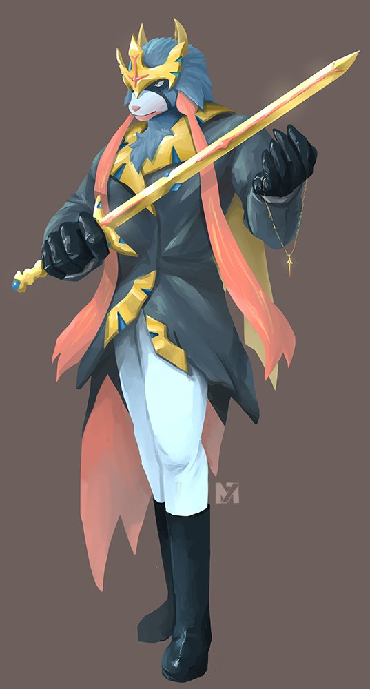 [Fanart] Zacian... maybe -- Not gonna lie, I'm pretty bad at costume design  Hope I can come up with some better ideas for Zamazenta <br>http://pic.twitter.com/bl7Q9uIv2v