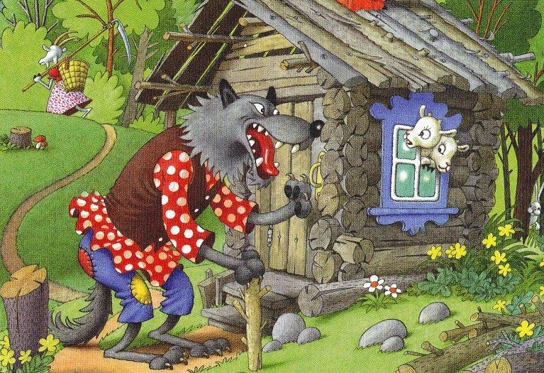 Картинка из волк и семеро козлят