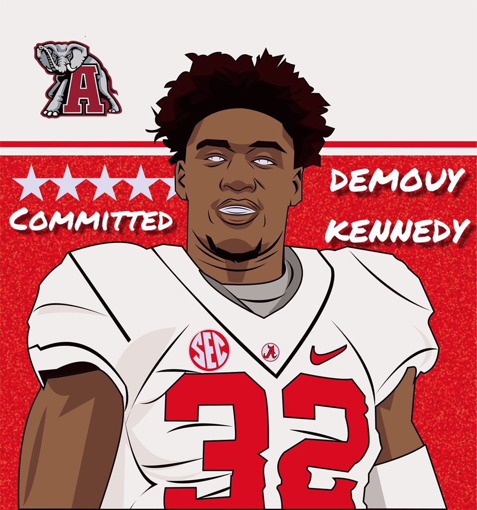 Alabama lands Top100 LB:  Theodore 4-star linebacker Demouy Kennedy