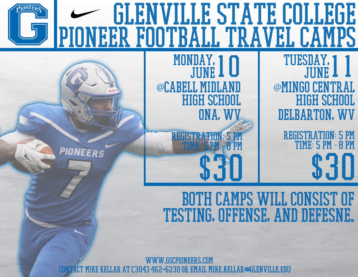 Hope to get every kid in Southern WV to these camps the next two days.