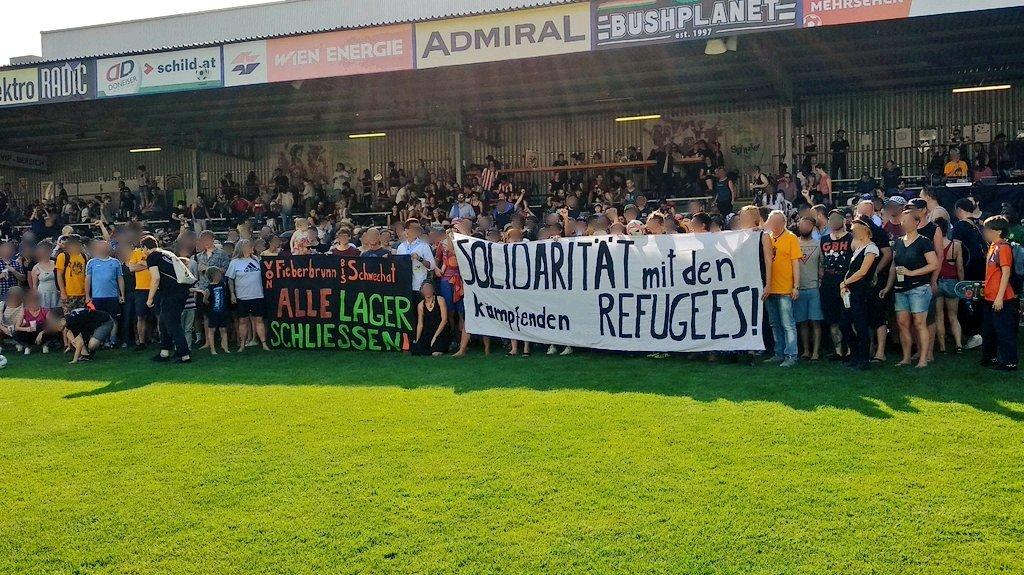 Solidarität vom UteBockCup mit den streikenden Refugees