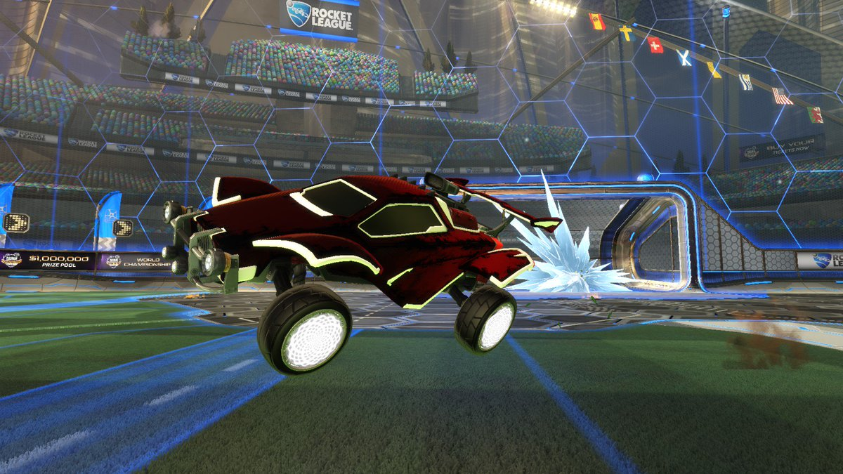 [GIVEAWAY] Because we made top 4 in EU RLCS and Worlds I am going to do my biggest giveaway yet!  I am going to be giving away this entire car which is: Titanium White Octane Titanium White Zomba Heatwave  How to Enter: Follow + Retweet + Like  Drawn: July 9th, 2019