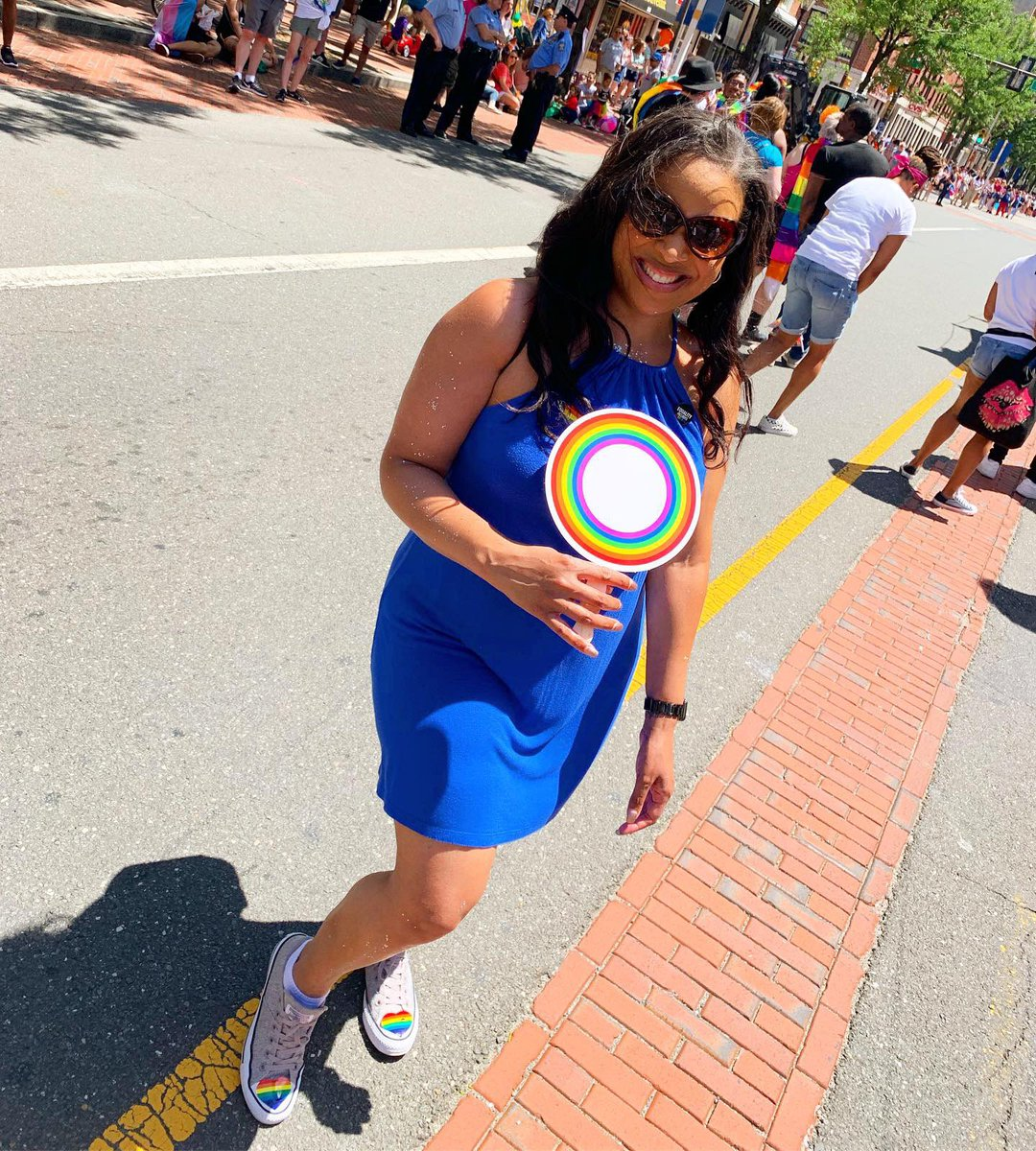 I had a great time walking in the Philly Pride Parade today. #loveislove #proudally