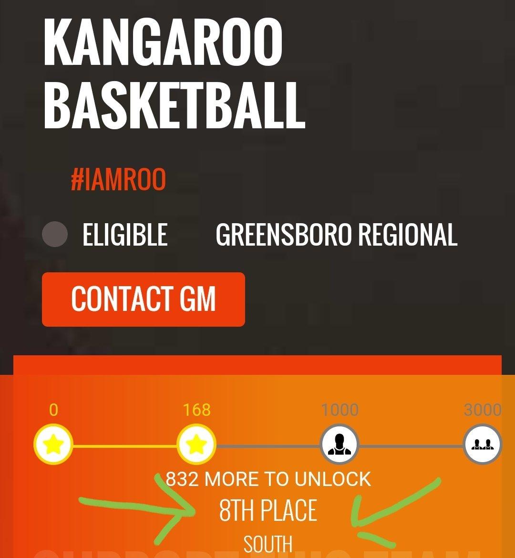 @thetournament @Charge_Nation @AndrewDHaner 8 Teams Per Region. #8 in Greensboro. Enough Said.
