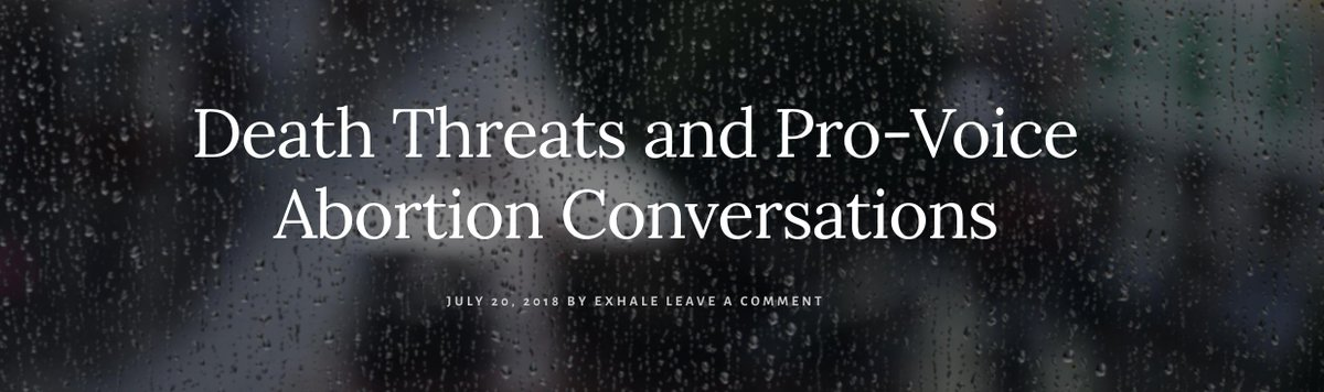 Though I imagine the intention was to shut me down, it had the opposite effect. The message inspired me to think bigger about how we bring people together nationally for abortion conversations — to show love in the face of hate & what better time than now? https://bit.ly/2R0z8Ag