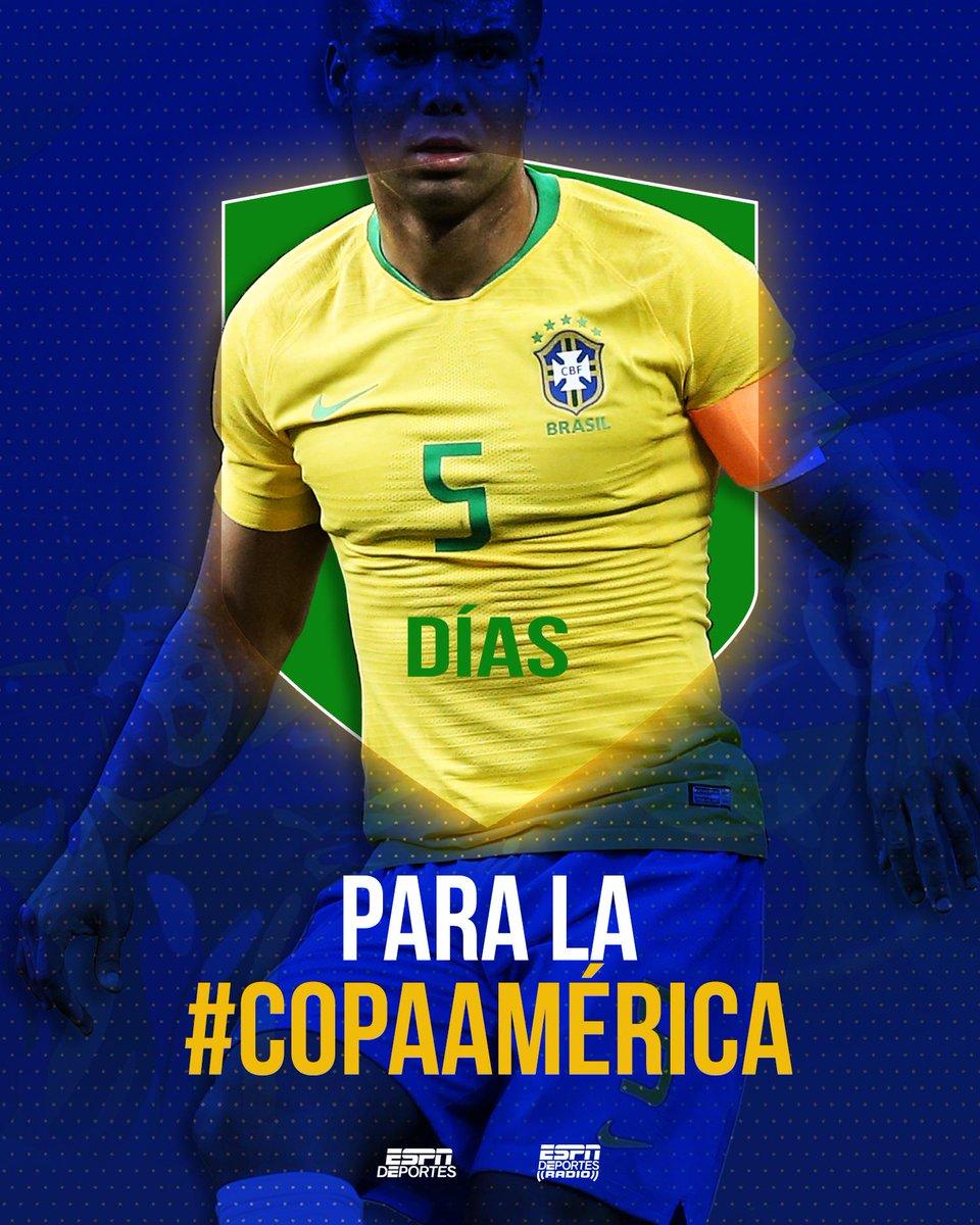 5️⃣días para la #CopaAmérica  ¿A qué selección apoyarás? https://t.co/ikF81VzSZS