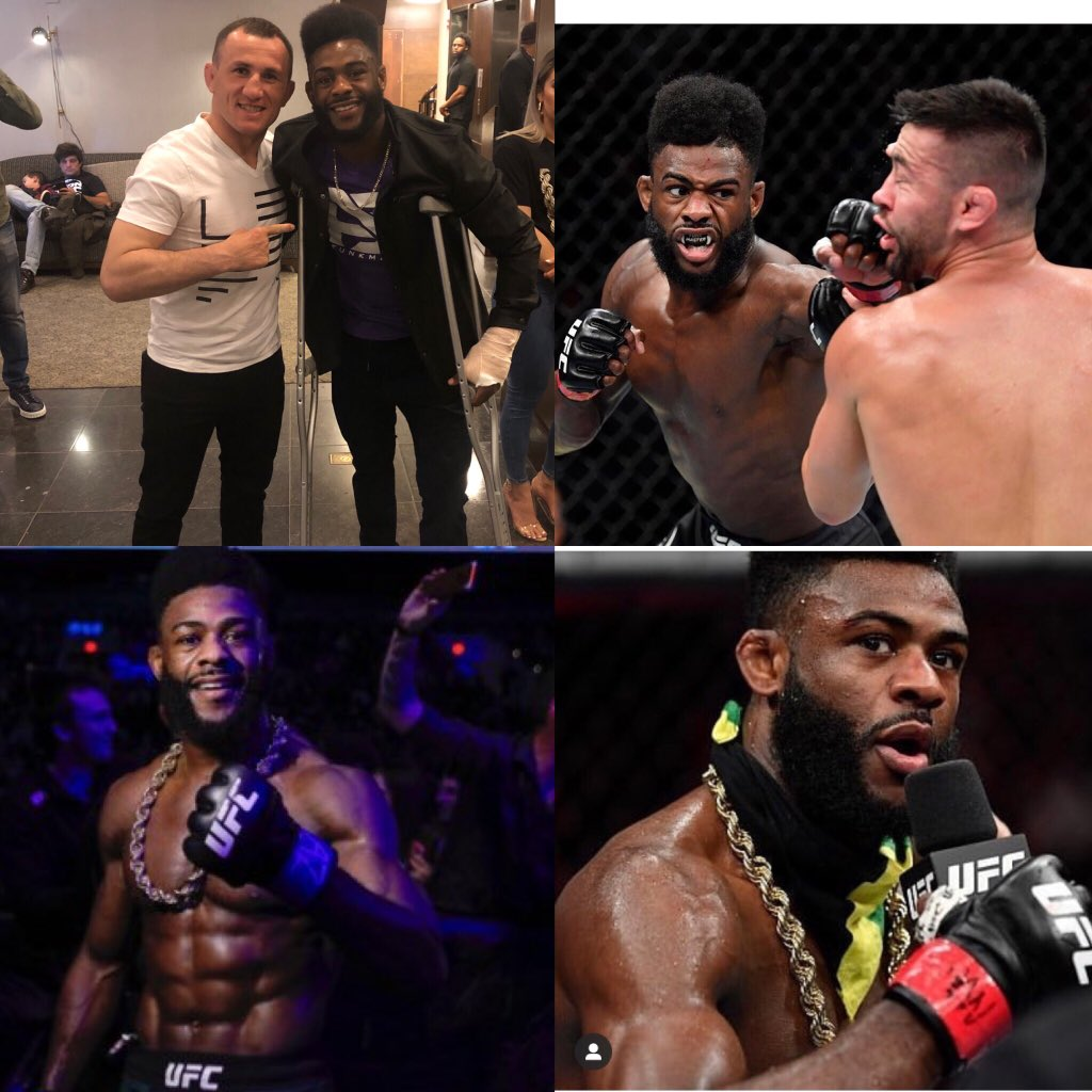 I am so happy and proud of @FunkMaster_UFC . His performance as always was amazing last night and proves nobody deserves the title shot more than him. Training with Aljo inspires me to always reach the next level as a fighter. #serralongo