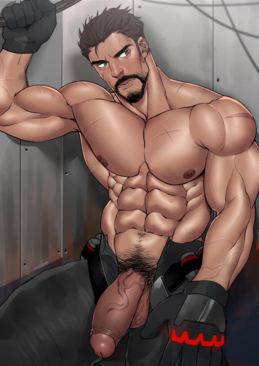 Gay gym rat t shirt art print by toddalan