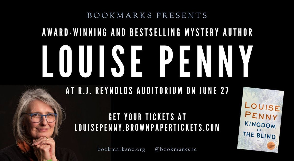 Get your Louise Penny tickets at louisepenny.brownpapertickets.com