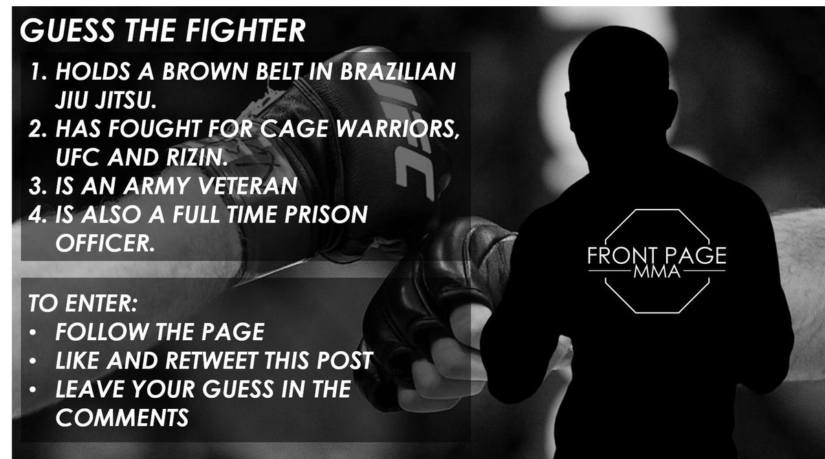 🚨COMPETITION TIME 2🚨 Correctly guess the fighter below for your chance to win a $10/£10 gift card of your choosing! Get involved! #Giveaway #MMA #FPMMA
