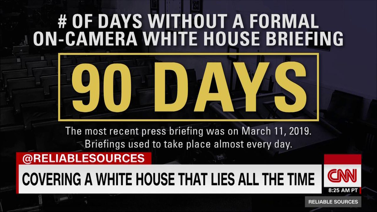 The White House hasn't used the press briefing room to, ya know, brief the press, for 90 days...
