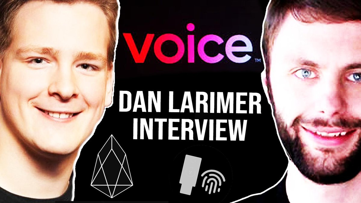 BIG $EOS  INTERVIEW COMING UP  Dan Larimer (@bytemaster7) comes back to the channel. We discuss:  ✅ EOS 2.0 ✅ Voice Launch ✅ EOSVM ✅ WebAuthn ✅ WebAssembly  Video will be released in 10 hours. SET REMINDERS: 11PM PST / 2AM EST / 8AM CEST  Keep an eye: https://www.youtube.com/c/ivanontech