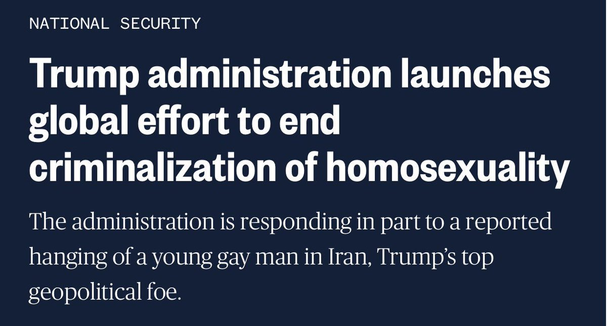 If we don't give credit where credit is due, we become ideologues.   https://www.nbcnews.com/politics/national-security/trump-administration-launches-global-effort-end-criminalization-homosexuality-n973081…