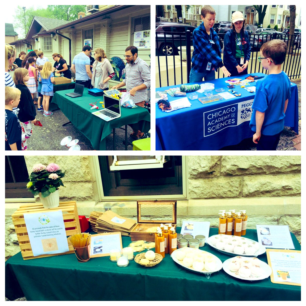 ec12b33ea14 Get bike check up w/@HeritageBicycle , make a dolor robot, paint eco rocks,  learn about bees and more! Come by before 5pm.