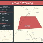 Image for the Tweet beginning: Tornado Warning continues for Liberty