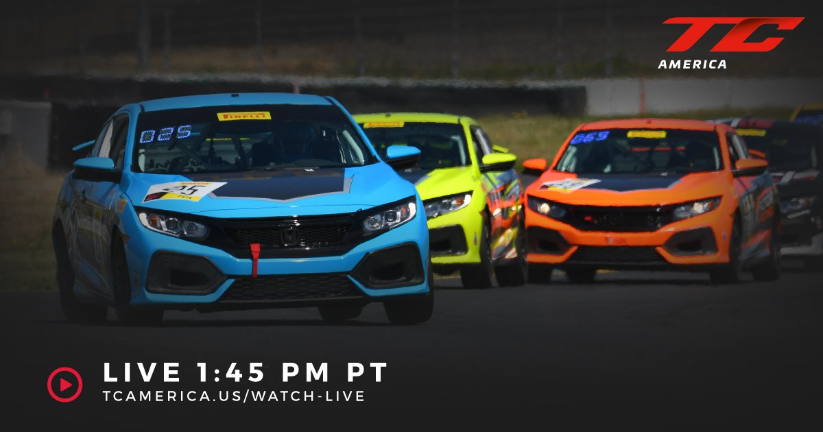 Ready for the final @Honda race of the day at @RaceSonoma? Tune in to watch the Civic Type R TCRs / Civic Si TCA race cars battle in wine country!