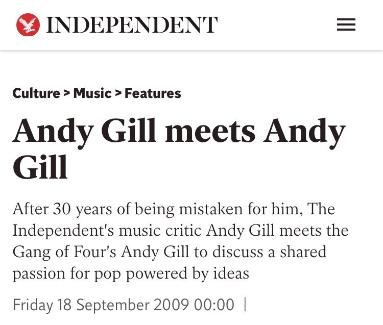 RIP andy gill