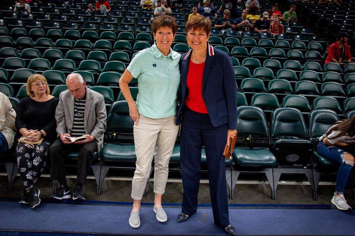 #Fever President @DrAllisonBarber + @NDWBB Coach @MuffetMcGraw = What A Duo 💛💙❤️  #Fever20 #AllForLove