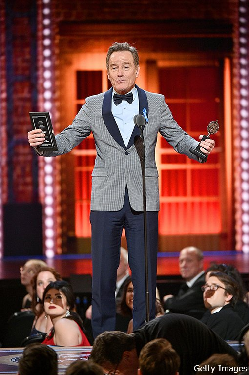 Congratulations to @BryanCranston, Tony Award-winn