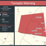Image for the Tweet beginning: Tornado Warning continues for Leander