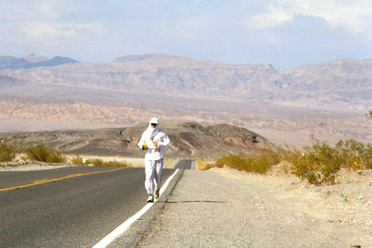 There's a Red Flag heat advisory today. I know, let's go running! @badwater @GoUltima #CCSRunningforGood