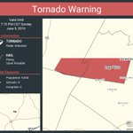 Image for the Tweet beginning: Tornado Warning continues for Lago