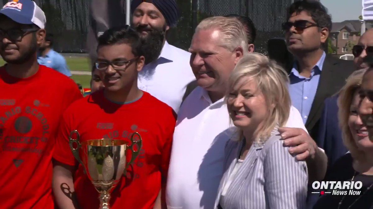 Premier Doug Ford joined families at Courtney Park sports field in Mississauga to kick off a provincial under 19 cricket championship!