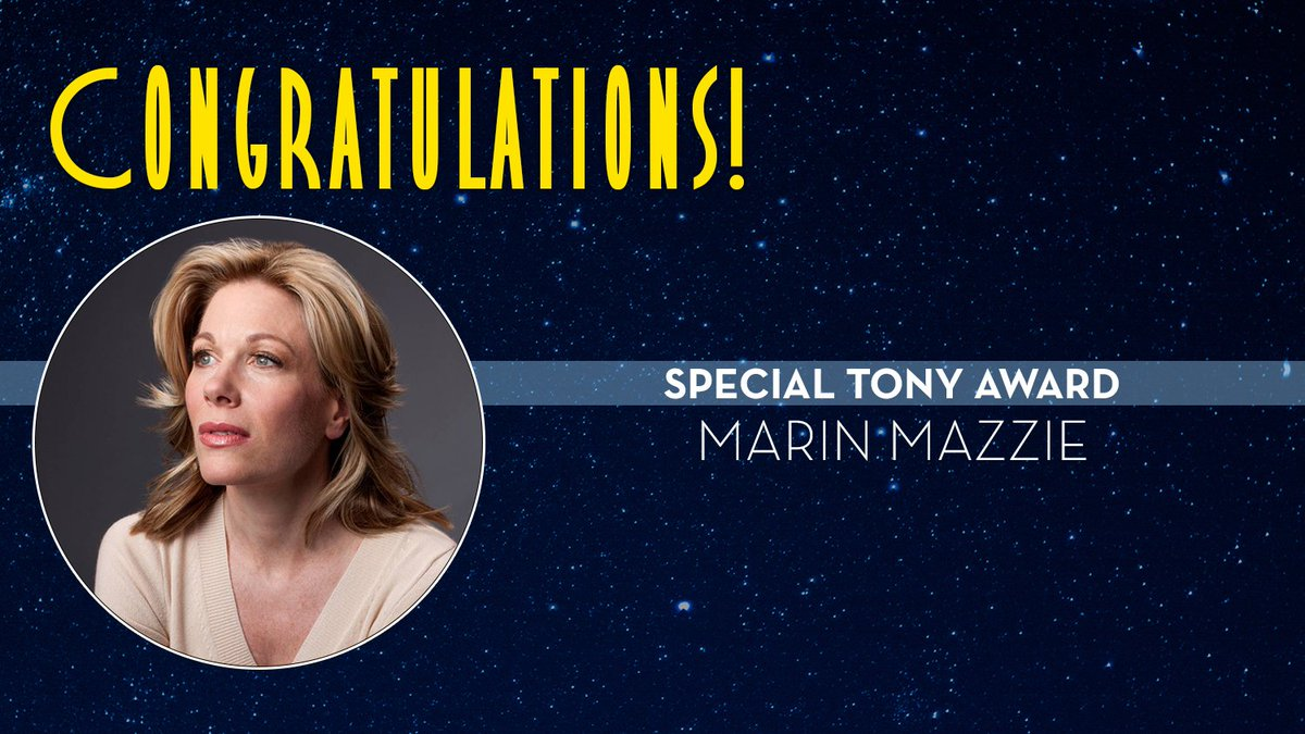 Marin Mazzie is honored with a 2019 Special #TonyAwards  http:// bit.ly/2019-Tony-Awar d-Winners  … <br>http://pic.twitter.com/CLnPA1zJ8Z