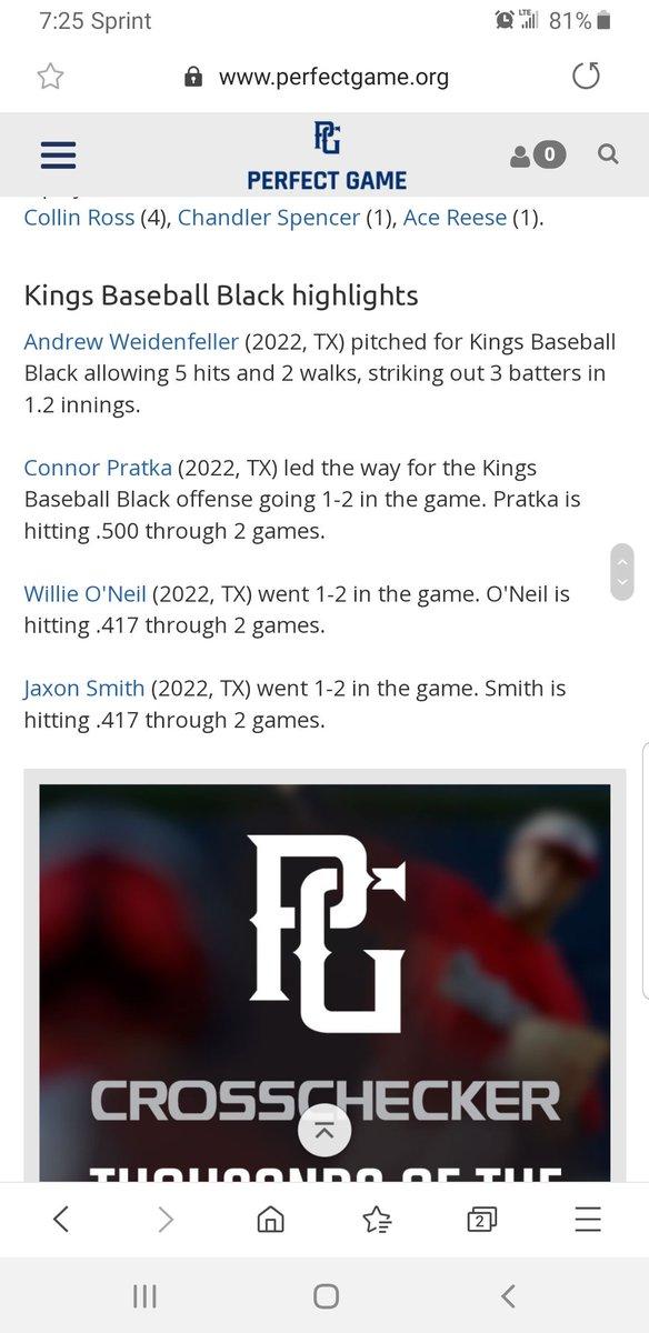 Good Baseball Weekend Connor!