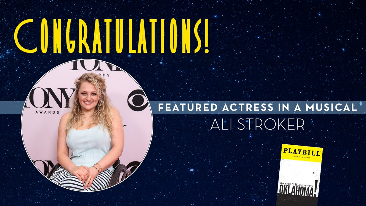 Best Featured Actress in a Musical goes to @OklahomaBway's @ALISTROKER! #TonyAwards https://t.co/Ga69rvGGIc https://t.co/aqhuOQnbFa