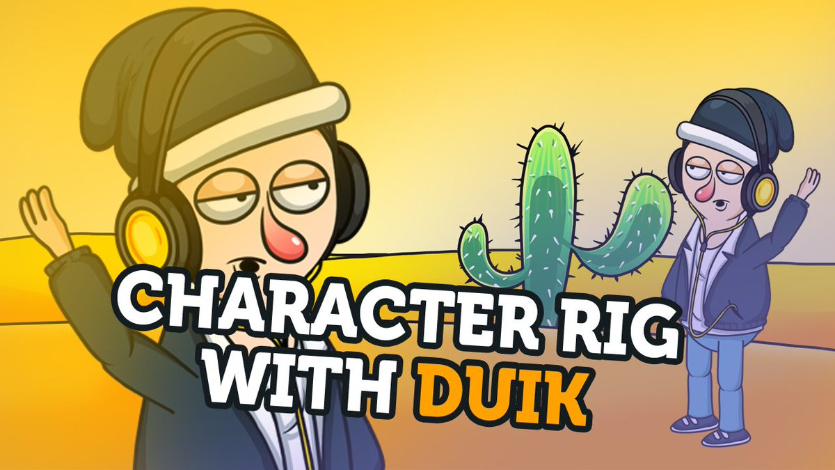 Full 2D Character RIG For Animation with DUIK Watch Tutorial