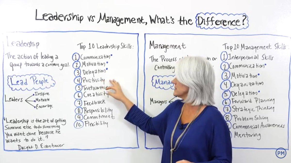 Leadership vs Management<br>http://pic.twitter.com/Rr2Ro2Hgf6