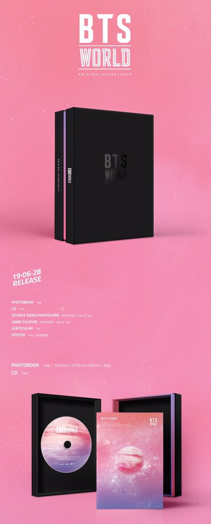 [Pre-Order] 💗 #BTS WORLD OST   ราคารวมภาษีแล้ว   เลือกการ์ด + เกมส์คูปองได้   นับเข้าชาร์ตทุกแผ่น   รายละเอียดสั่งซื้อ bit.ly/OST_WITH 🌟 RT EVENT 🌟 สุ่มแจกอัลบั้ม 1 รางวัล เพียง Retweet + Follower + ARMY 💯 #WITH_preorder #ตลาดนัดบังทัน #ตลาดรถไฟบังทัน