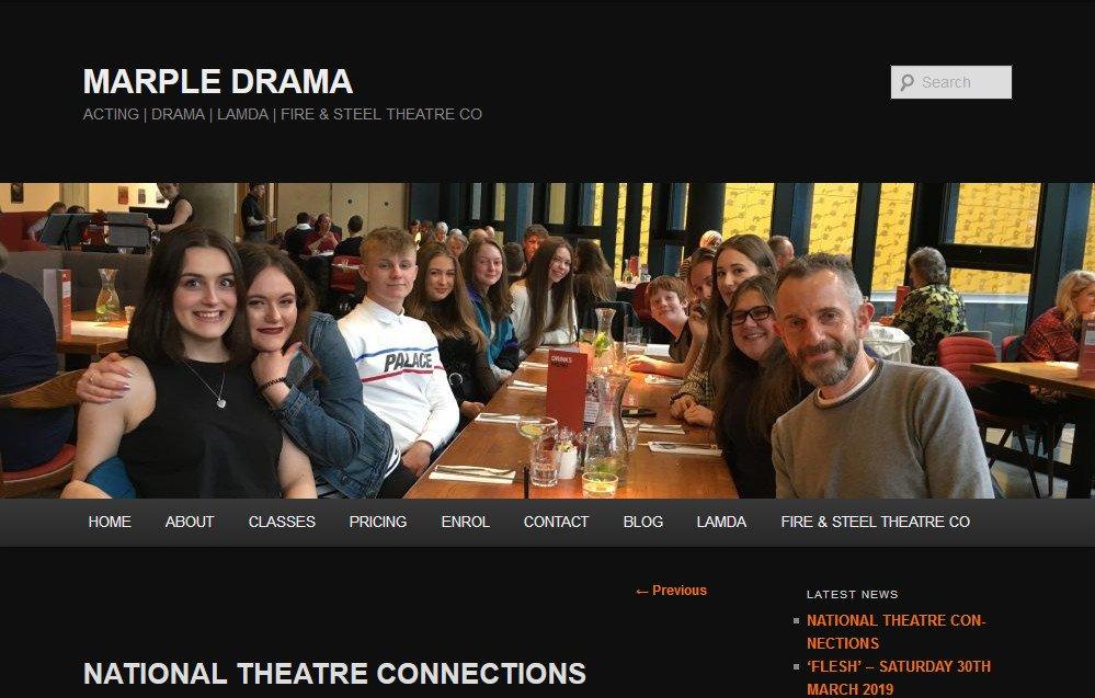 Thank you Marple Drama! - Marple Website Sponsor