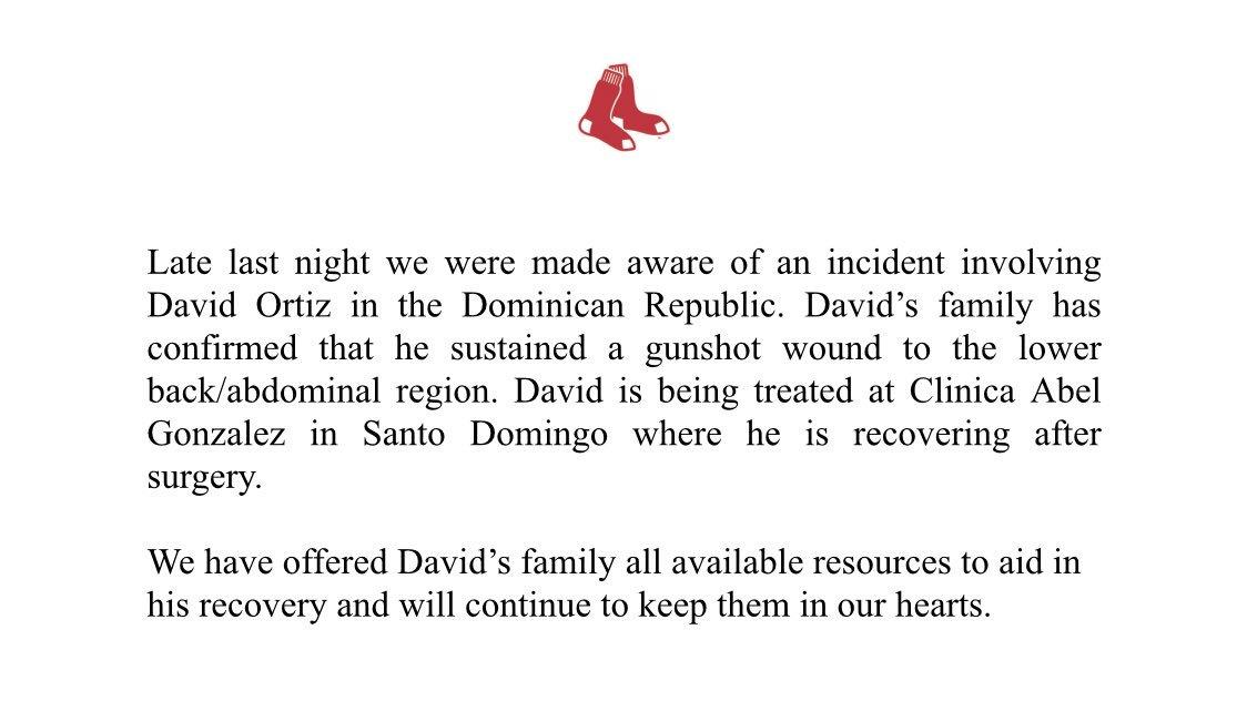 Athletes Pray for Ortiz