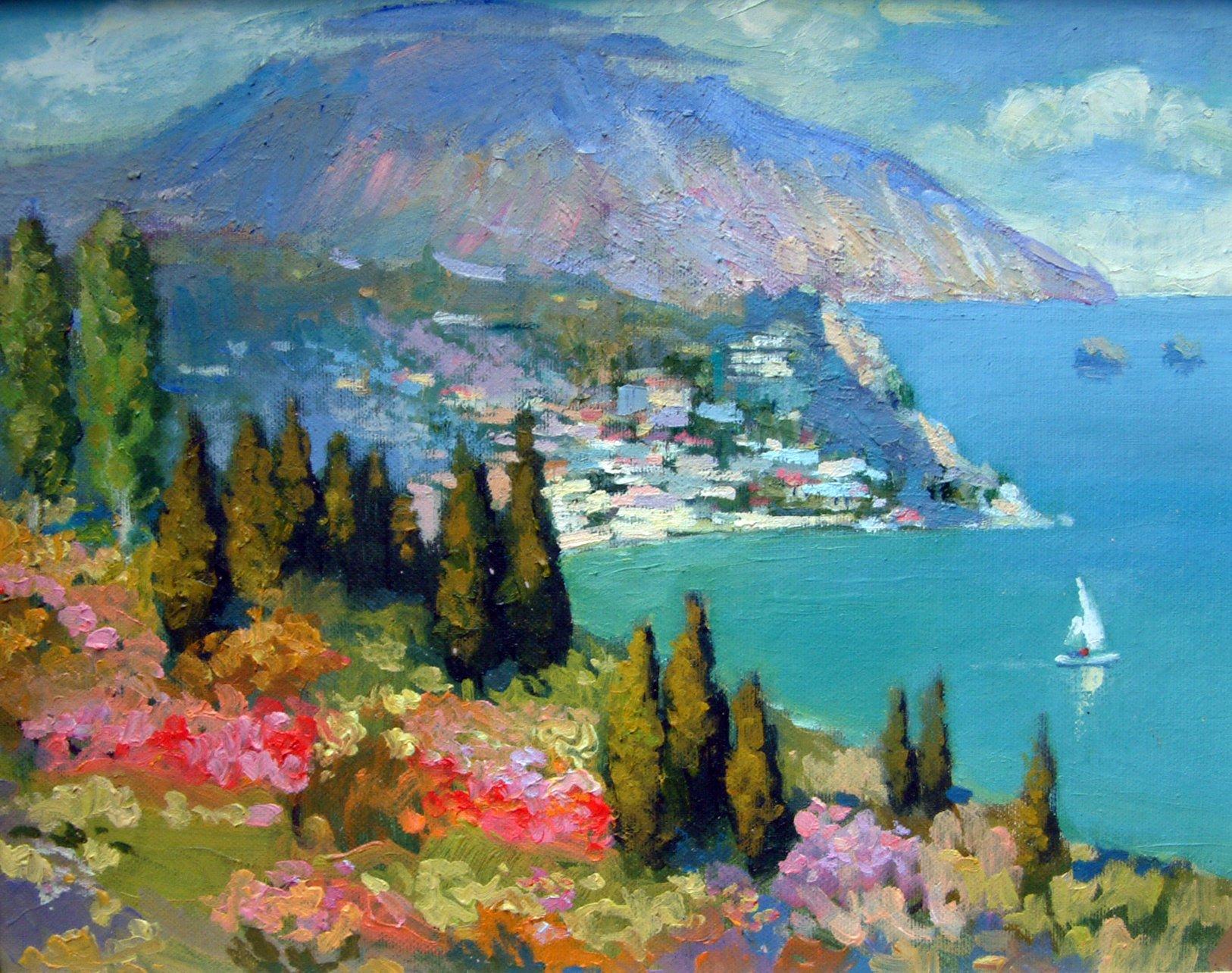 открытки крымские пейзажи эта ночь