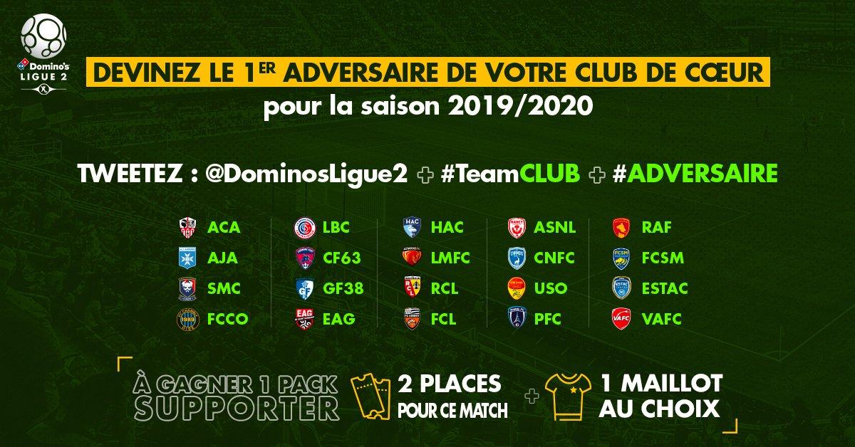 Calendrier Hac.Domino S Ligue 2 On Twitter Le Calendrier 2019 2020 De