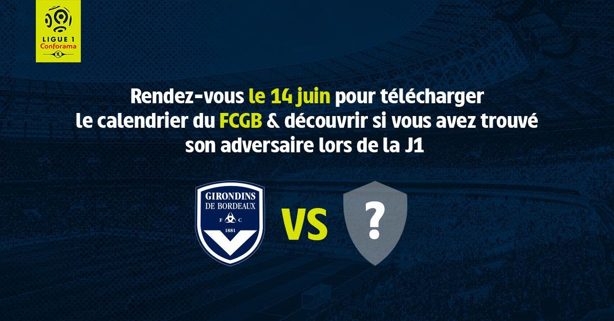 Calendrier Bordeaux Ligue 1.Fc Girondins De Bordeaux A Twitter Le Calendrier De L1
