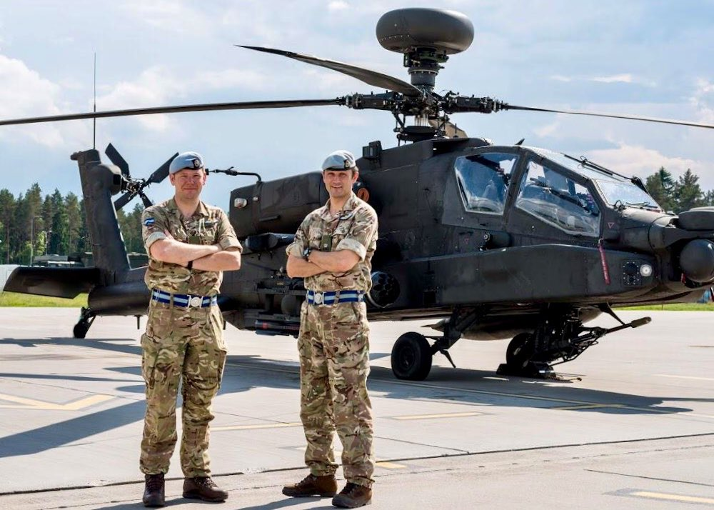 Handover complete. 662 Squadron are now the lead @BritishArmy #Apache Squadron in #Estonia. #IronWolf in #Lithuania and #BalticProtector to come over the next 6 weeks. We will working on our range and lethality by operating in multiple countries and with multiple partners.