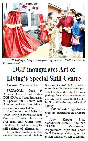 Great effort by Art of Living in J&K. Gurudev Sri Sri Ravi Shankar Ji doing great service for human beings