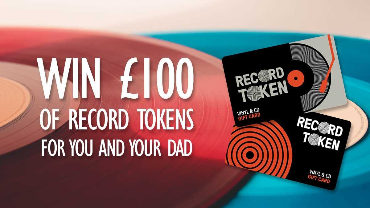 This Father's Day (Sunday 16th June), do you fancy gifting your Dad a record of his choice? 🎁 You could win a £50 Record Token for him plus another £50 Token just for you by simply following @RecordTokens and re-tweeting this post. Entries close Thursday 13th at 1pm.