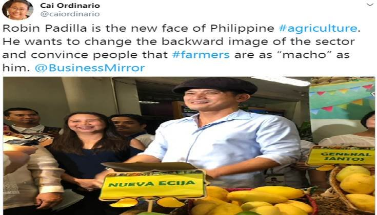 Robin wants to change the backward image daw of agriculture & convince people that farmers are as macho as he is.  Not sure which one's worse: A corrupt PMA dropout wanting to represent the youth OR this privileged asswipe trying to typify the struggling/untiring Filipino farmer. <br>http://pic.twitter.com/QES2NV7HZ7