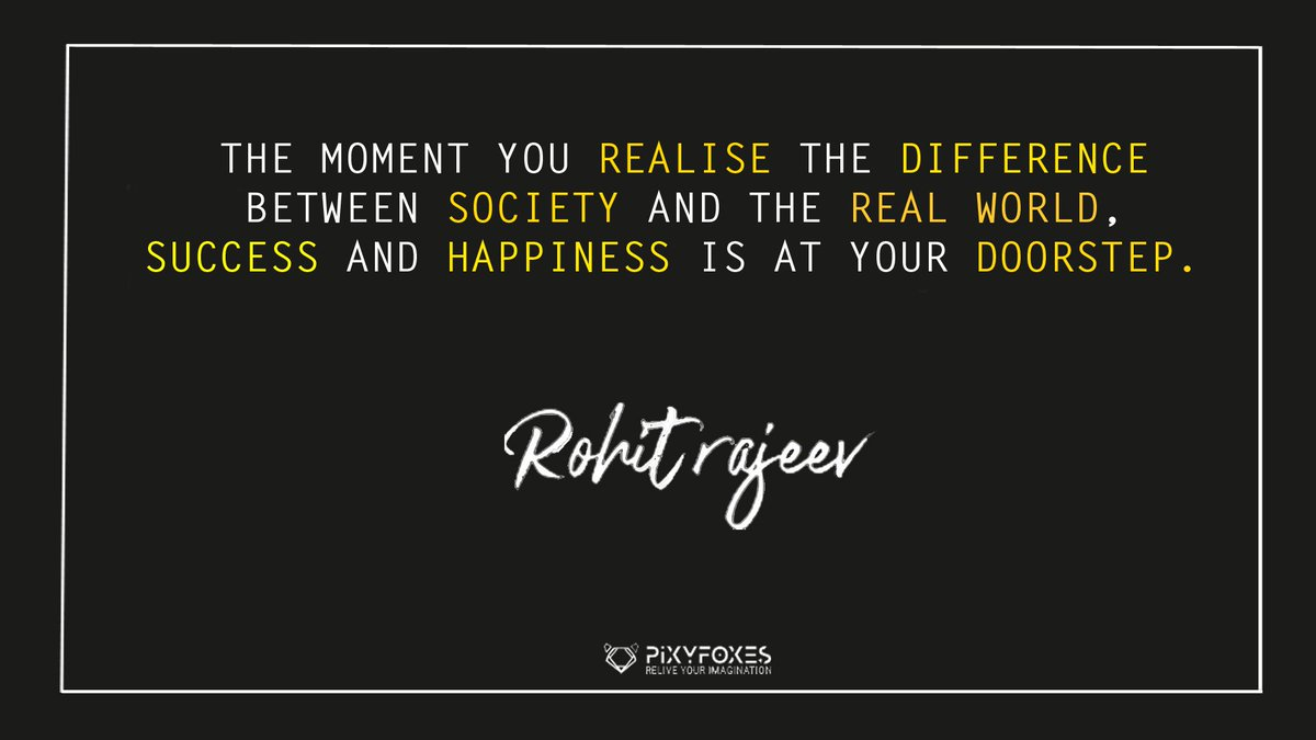 """#successquotes #successfulminds #business #startup #billionaire #billionaireboysclub #motivationalquotes #motivationalquotes #ethical #ethicalbusiness """"The moment you realise the difference between society and the real world , success and happiness is at your doorstep """"<br>http://pic.twitter.com/86wmi1xWAV"""