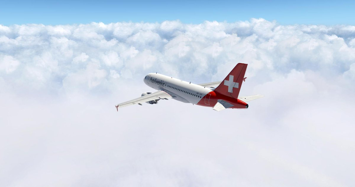 Un petit Madrid - Zurich ce matin ! Ambiance nuageuse ! --- A little Madrid - Zurich this morning ! Cloudy atmosphere !  @XPlaneOfficial @AvgeeksFR #FlightSim #A319<br>http://pic.twitter.com/wHI5CckW6t