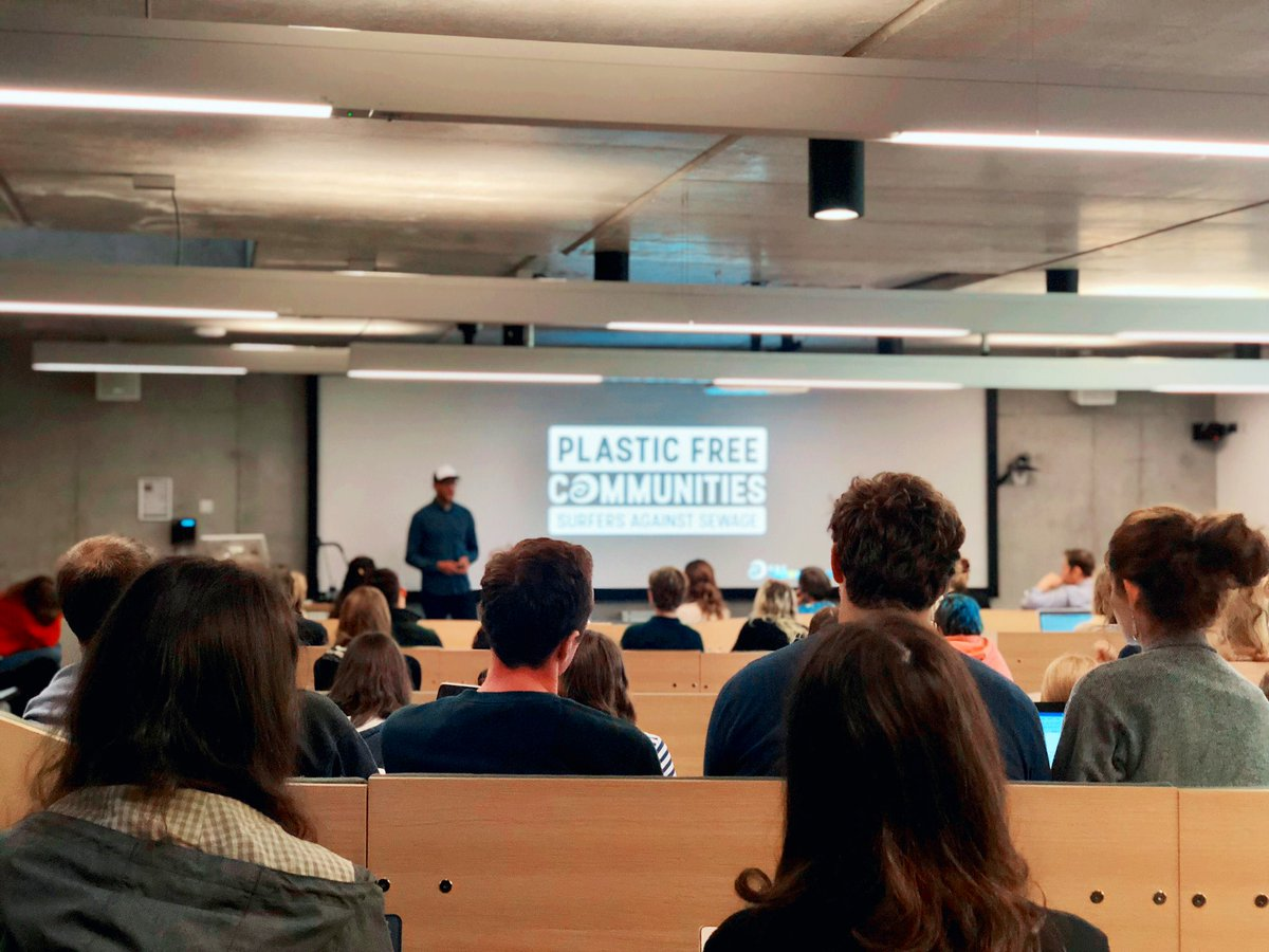 Our Grand Challenges week is off to an eye opening start from @sascampaigns CEO @HugoSAS, discussing plastic pollution and the harm being done to our planet.   Good luck to all of our students taking part in the challenge to create solutions for change ♻️🌎 #CaseForEarth