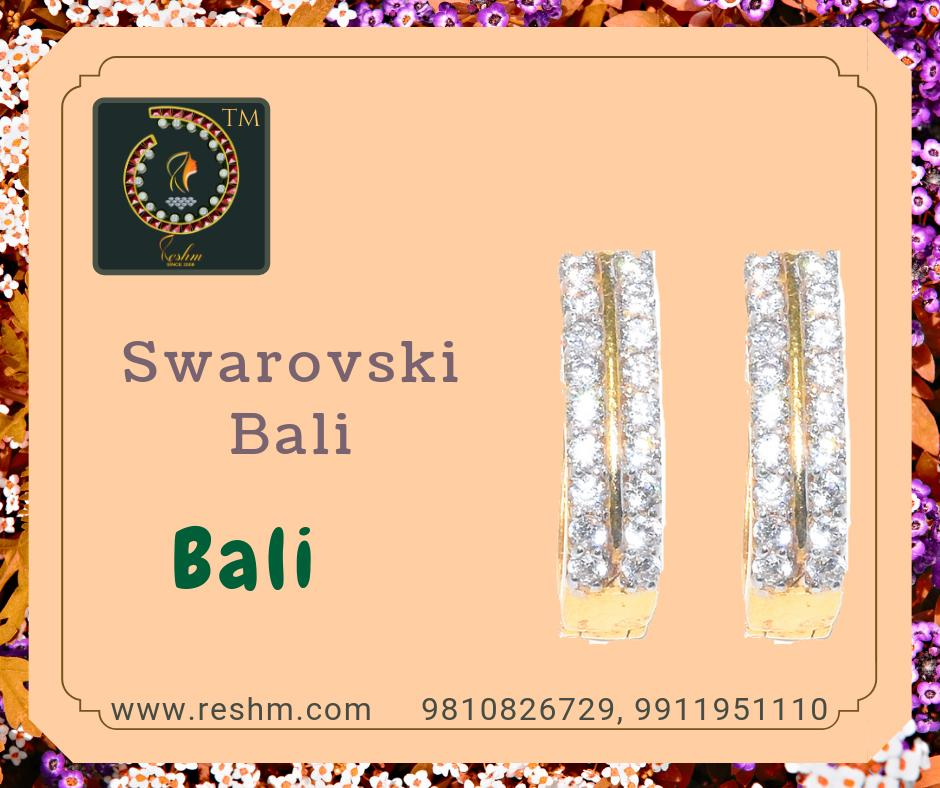 Swarovski Bali by Reshamm Shop now:  or Visit our store @ 1st Floor Next to Shoppers Stop GIP Noida #reshamm #Lightweightgoldjewellery #jewelleryinnoida #jewelleryindelhi #jewelleryinncr #goldlovers #jewelleryfans #fashion #designerjewellery #reshamm