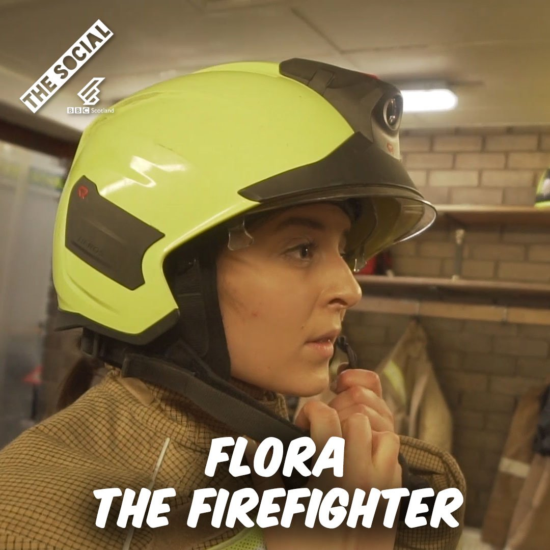 It kind of feels like Ive got 30 dads here. Flora is 21 and a firefighter! 👩‍🚒