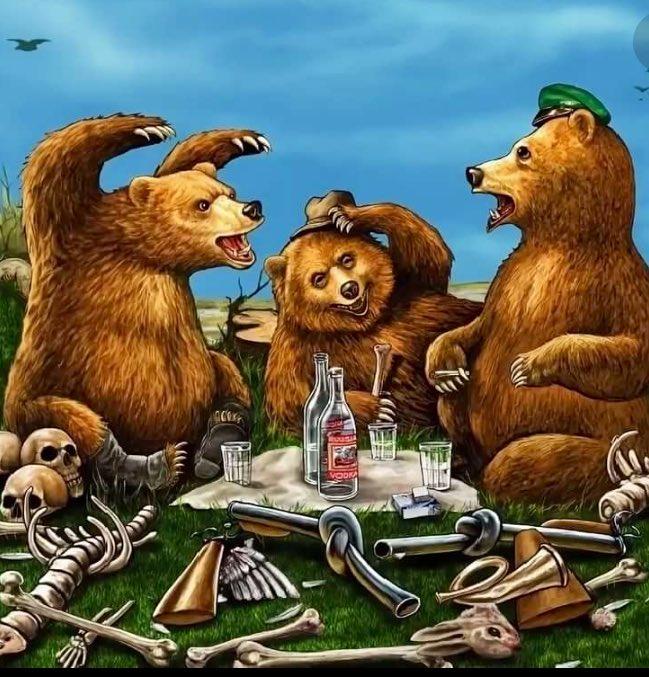 Открытки прикольные медведь, видео