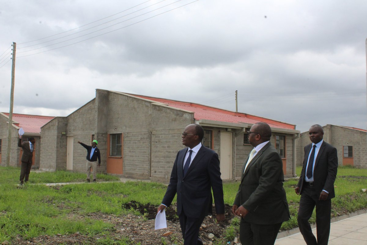 Very impressed by the Mavoko Affordable Housing Project that is almost complete.  It comprises 453 houses, 87 market stalls, 13 shops and 12 Jua kali sheds. Social amenities include a primary and nursery school, and a multi-purpose social center. #Affordablehousing